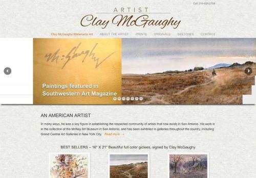 Artist Clay McGaughy